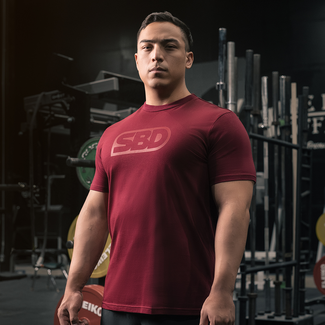 T-Shirt Phoenix  Logo burgunder Männer