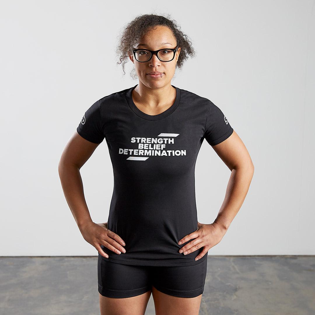 T-Shirt Eclipse Edition Slogan Frauen