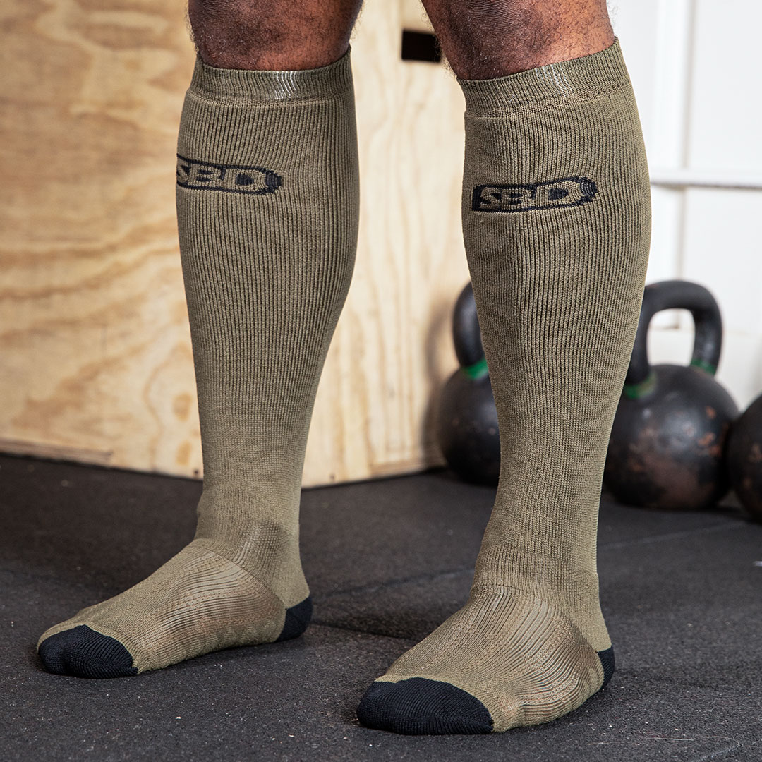Kreuzhebesocken Endure Edition Olive