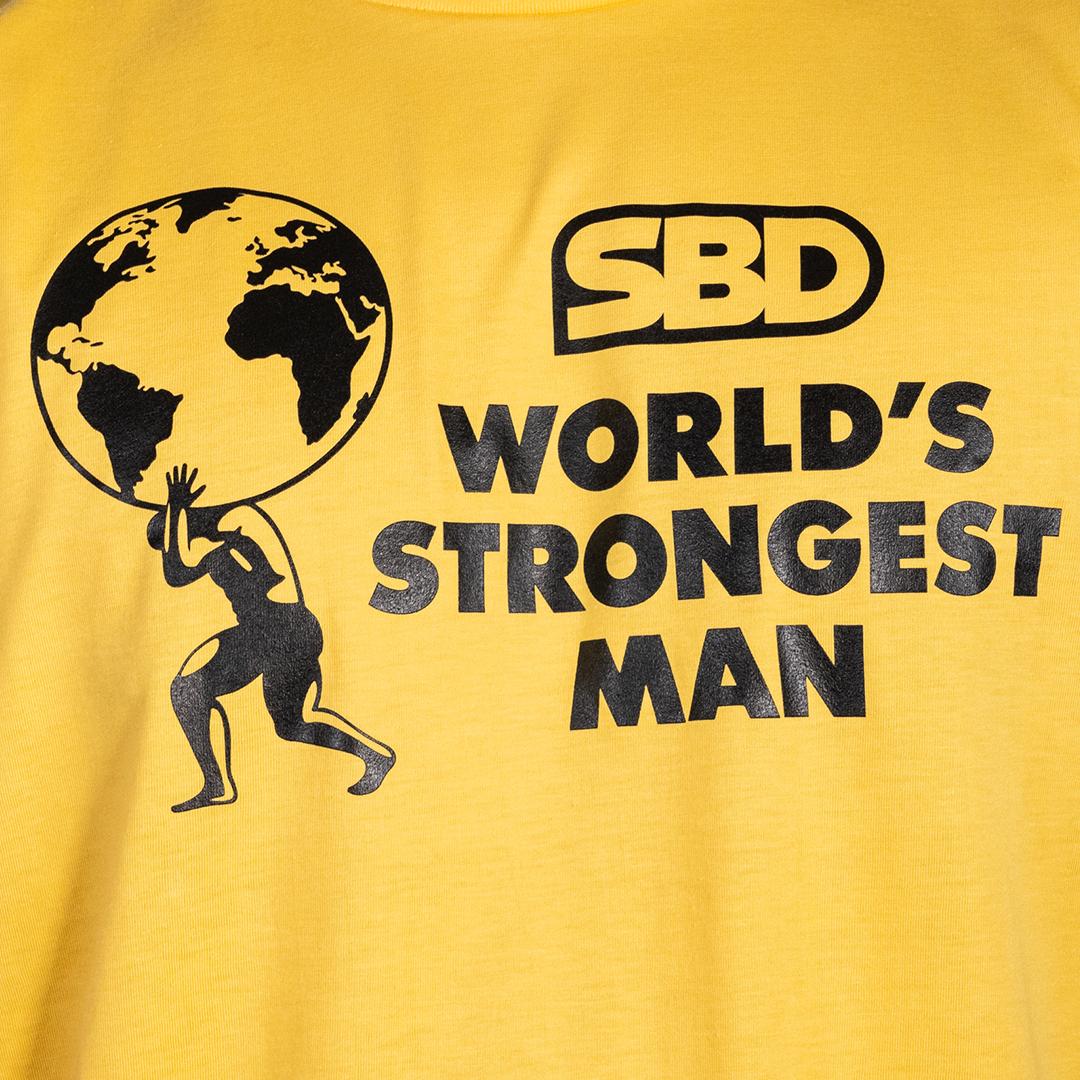 World's Strongest Man T-Shirt Frauen 2021 gelb
